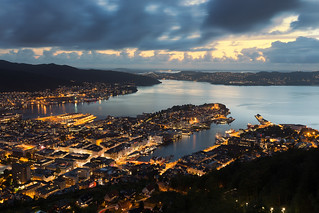 Dusk at the Fjord - Bergen - Norway