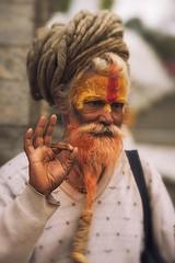 731 Holy Man - Sadhu III (Hrvoje Simich - gaZZda) Tags: man portrait holy wise mysticism hair beard orange sadhu old katmandu nepal asia nikon nikond750 lensbabyvelvet8518 gazzda hrvojesimich