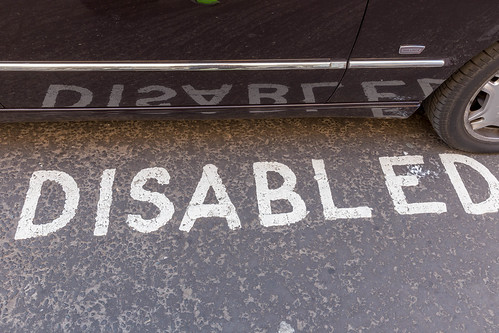 A disabled parking space in London