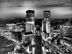 Dramatic NightLife - Sky-Lounge/Berlin (mikehaui60) Tags: olympuspenepm2 pen epm2 mft berlin nightlife bw blackandwhite artfilter skyline skylounge cityscape germany lumixg20mmf17asch