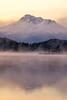 Mount Shasta Sunrise Reflections (optimalfocusphotography) Tags: northerncalifornia california usa landscape siskiyoucounty reflection nature mist reflections sunrise fog lake water mountshasta mountain