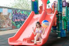 DSC_2585 (錢龍) Tags: 楊淑芬 十芬 台中 烏日 公園 泳裝 塗鴉 可愛 女孩 外拍 遊樂 美女 nikon d850 beauty cute swimsuit portrait albee ⅹ十芬