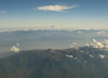 Mount Fuji from Western Japan (sjrankin) Tags: 19october2006 24april2018 edited honshu mountains airplane window mountfuji volcano clouds haze valleys japan