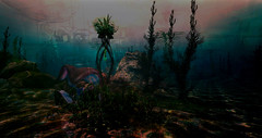 under the sea... (prole pinion) Tags: secondlife blend blending layers layering photoshop juxtaposition surreal surrealist mystic mystical