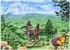 Luke 02 - Prophecies about Jesus - Scene 05 - Return to Nazareth (Martin Young 42) Tags: luke luke239 lukesgospel gospel jesus baby messiah saviour mary joseph return nazareth jezreelvalley panorama danauschrysippus plaintigerbutterfly africanmonarchbutterfly silybummarianum holythistle ourlady'sthistle milkthistle