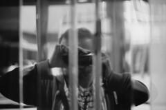 untitled (kaumpphoto) Tags: mamiya ilford nc1000s 3200 selfportrait camera reflection chrome door finger