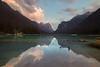 The right balance (luigig75) Tags: dolomiti lago dobbiaco toblach lake mountains montagne riflessi reflections summer 2017 clouds sunset tramonto italia italy trentinoaltoadige landscape canon 70 70d efs1022mmf3545usm