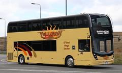Ex Go Goodwins E400MMC YX66WLJ now Yelloway Coaches, Chadderton, Oldham M90 YEL in Yelloway Motor Services livery on North Halifax Grammar School duties. (Gobbiner) Tags: yellowaymotorservices m90yel enviro gogoodwins e400mmc adl chadderton yx66wlj oldham yellowaycoaches