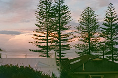 Sunset. Black Head Beach, Hallidays Point (thomasdwyer) Tags: australia australian nsw midnorthcoast hallidayspoint forster forstertuncurry redhead blackhead blackheadbeach nature beach ocean sunset waves film 35mm sunny16 hillvale hillvalephoto pentax pentaxmesuper pentaxkmount