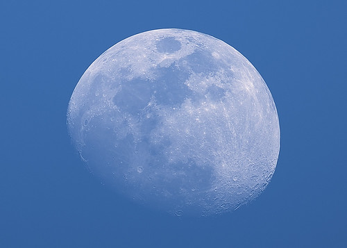 The Waxing Gibbous Moon During the Day