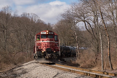 Curvin' (Dan A. Davis) Tags: rochestersouthern rsr bp buffalopittsburgh bprr geneseewyoming gw gp9 roadslug gp403 freighttrain railroad locomotive train butler chicora pa pennsylvania iron city trestle