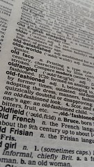 Back in the day...dictionaries were all the fashion! (BAKAEDAR) Tags: macromonday macromondays backintheday dictionary oldfashioned