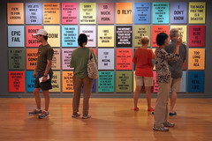Douglas Coupland; Slogans for the 21st Century (2011-2014, 148 pigment prints on watercolour paper, laminated onto aluminum); Exhibition: everywhere is anywhere is anything is every thing (2014) at the Vancouver Art Gallery (2014). Photo by longzijun. (artjouer) Tags: douglascoupland contemporaryart canadianartist canadianart vag vancouverartgallery everywhereisanywhereisanythingiseverything artjouer longzijun