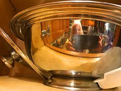 A Peek Into My Kitchen (soniaadammurray - On & Off) Tags: iphone manipulated experimental kitchen selfportrait reflections servingbowl lid kitchenalia artchallenge kreativepeoplegroup