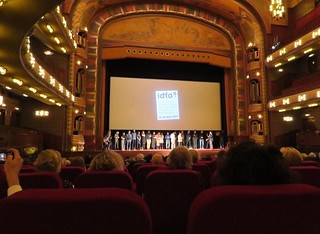 Tonight on Dutch television: the documentary A Stranger Came to Town (picture: during IDFA, cast & crew, Amsterdam, Tuschinski, 2017)