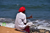 The Old Man and the Sea (Joy lens) Tags: the old man sea india beach life human