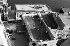 Rooftops (petia.balabanova(tnx for +3 million views)) Tags: blackandwhite monochrome nikond800 50mm travel malta valletta rooftops buildings sea city