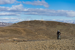 DSC04539 (Guðmundur Róbert) Tags: iceland moutain biking mtb bikes mountain hjól reiðhjól hjóla cycling mountains sky blue sony a7ii kit lens landscape intense cube 29er downhill uphill view island ísland black white