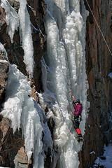 Ice Climber #5 (gminvdz) Tags: ice iceclimbing climbing icefall falls waterfalls waterfall cliffs cold winter keystonecanyon keystone canyon valdez alaska valdezalaska horsetailfalls competition action sports