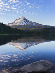 Mt Hood reflecting in Trillium Lake (Mt Hood NF, OR) (Sveta Imnadze) Tags: nature landscape trilliumlake mthood reflection spring oregon clouds forest pacificnorthwest