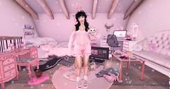 【sleepover】 (Sooyun Ichtama) Tags: secondlife sl ootd pink halfdeer blackbantam randommatter cherryhouse lagom arise ahegao suicidalunborn lamb mignon pinkfuel kustom9 sanarae gacha limit8
