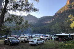 Newnes Campground - Easter weekend hordes (Harlz_) Tags: newnes wolganvalley campground easter 2018 iphone iphone8 wollemi nationalpark