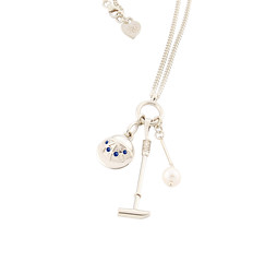 "Sylvia Kerr Jewellery Polo Necklace in Silver With Sapphire • <a style=""font-size:0.8em;"" href=""http://www.flickr.com/photos/139554703@N03/27361925438/"" target=""_blank"">View on Flickr</a>"