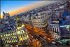 Madrid (Totugj) Tags: nikon d5100 nikkor 55105mm madrid gran via hora azul urbanscape urbanismo urbano street streetview europa europe