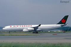 F-WWJT (@Eurospot) Tags: fwwjt cgdvw airbus a340 a340300 aircanada toulouse blagnac