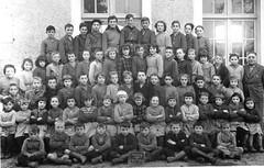 Class Photo (theirhistory) Tags: children kids boys school class form girls teacher jacket coat shoes wellies rubberboots