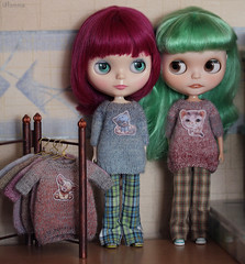 (Ulanna) Tags: blythe knitting handmade clothes sweater pullover jersey jumper