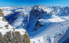 Chamonix from Aiguille du Midi (cantdoworse) Tags: aiguille du midi chamonix france mount blanc landscape snow mountains alps skiing canon 6d rock