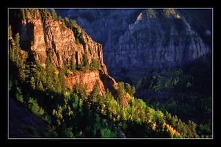 Cliff in Sunset - San Juan Mountains, Colorado, 1990