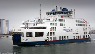 Wightlinks' Current flagship, MV St. Clare