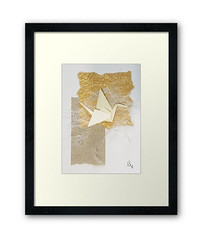 Framed origami wall decor (julie_savard) Tags: aceo origami atc orijuju juliesavard paperart miniature pocketart papercraft paperartist artisttradingcards japaneseart traditionnalart