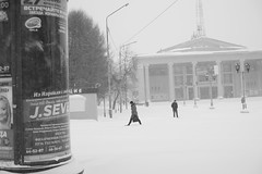 DSC02964 (Oleg Green (lost)) Tags: province snow storm morning monday spring april vyatka kirov people russia raw voigtlander nokton 1550 a7
