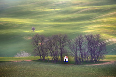Santa Barbara Chapel (Steven Olmstead) Tags: cultivatedland green farmland rural moravia spring field
