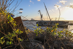 The old Wreck Portsmouth Harbour (Meon Valley Photos.) Tags: the old wreck portsmouth harbour ngc crane dockyard