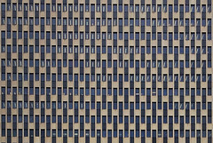 Facade of The Jacob K. Javits Federal Office Building at 26 Federal Plaza on Foley Square in the Civic Center district of Manhattan (TheMachineStops) Tags: 2017 nyc manhattan newyorkcity jacobkjavitsfederalofficebuilding building architecture facade grid pattern rectangles mesh civiccenter skyscraper internationalstyle lines