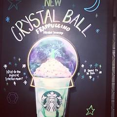 Crystal Ball Frappuccino (booboo_babies) Tags: starbucks crystalball frappucino sign advertisement avengers psychics infinitywar blackboard