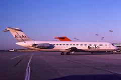 N778NC Republic DC-9-51 at KCLE (GeorgeM757) Tags: n778nc republic northwest dc951 dc9 kcle clevelandhopkins georgem757 mcdonnelldouglas aircraft alltypesoftransport aviation airport