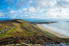388 Rhossili Beach (Pixelkids) Tags: wales southwales rhossili rhossilibeach wormshead küste hügel strand meer wolken abend view