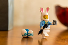 Am I too late for Easter? (Ballou34) Tags: 2018 7dmark2 7dmarkii 7d2 7dii afol ballou34 canon canon7dmarkii canon7dii eos eos7dmarkii eos7d2 eos7dii flickr lego legographer legography minifigures photography stuckinplastic toy toyphotography toys stuck in plastic easter rabbit clock watch umbrella eggs egg chocolate saintgélydufesc occitanie france fr bunny