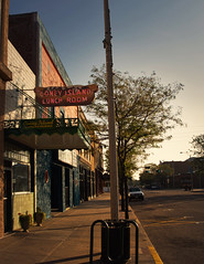 Island Life (Possum Jimmy) Tags: nebraska lincolnhighwayroadside neon sign coney island dog bun eat early morning street