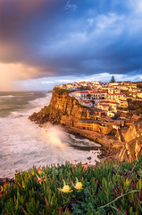 Encanto de Azenhas (flamesay) Tags: azenhasdomar portugal sintra atardecer costa sunset waterscape coast sea tormenta lluvia
