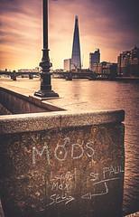 We are the mods! (danpower123) Tags: shard theshard graffiti water riverthames thames landscape sonya6000 mods londontown london
