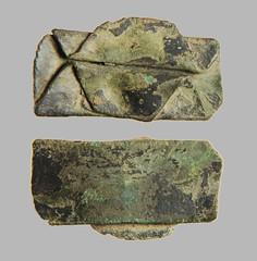 Vessel Repair Patch 1300-1450 (2017) (Ks Ed) Tags: relic artifact artefact england uk metal detecting detector medieval vessel patch norfolk historical historic potmend rivet dug excavated find 2017