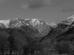 The Snow Top Mountains (RS400) Tags: lake district mountains treee tree black white landscape zoomed wow amazing cool travel sky clouds uk olympus photography snow