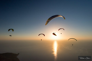 Sunset Flying with Skywalk