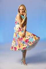 A bunch of springtime colours (Harald Schnitzler) Tags: fashion gel blue flash portrait skirt